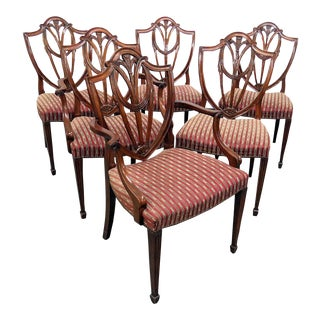 Vintage Mid Century Baker Louis XIV Style Dining Room Chairs- Set of 6 For Sale