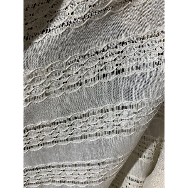 Shabby Chic Ralph Lauren Capshaw Linen Sheer Alabaster For Sale - Image 3 of 7