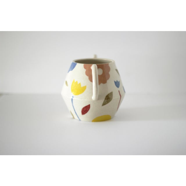 2020s Modern Hand-Painted Decorative Floral Vase For Sale - Image 5 of 12