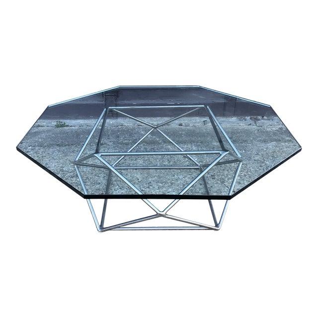 Milo Baughman Sculptural Bronze Coffee Table Directional Furniture For Sale