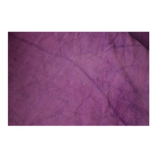"French Bright Purple Dyed Linen Fabric - 90x135"" For Sale"