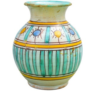 Handmade Moroccan Ceramic Vase For Sale