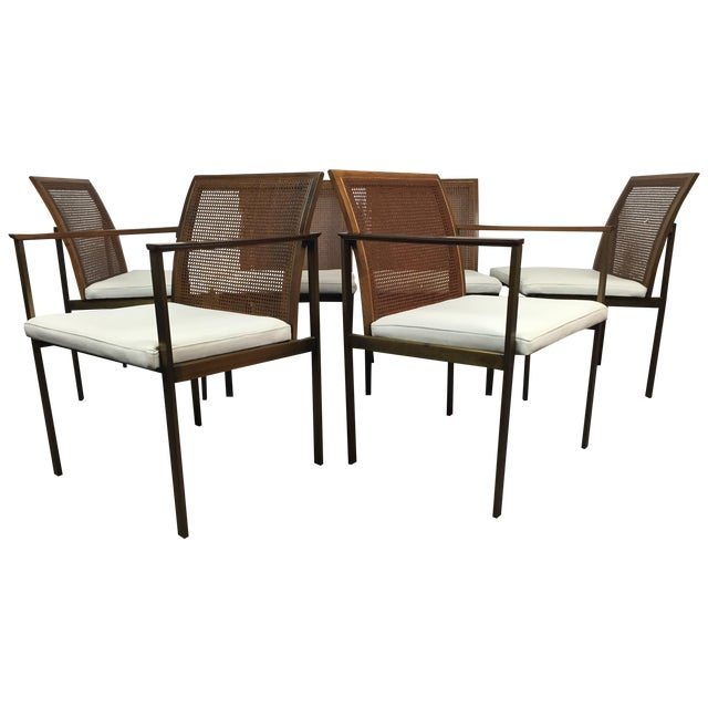 Paul McCobb Cane & Leather Dining Chairs - S/6 - Image 1 of 11