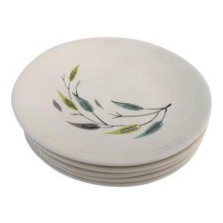 Midcentury Leaf Design Soup Bowls S/5