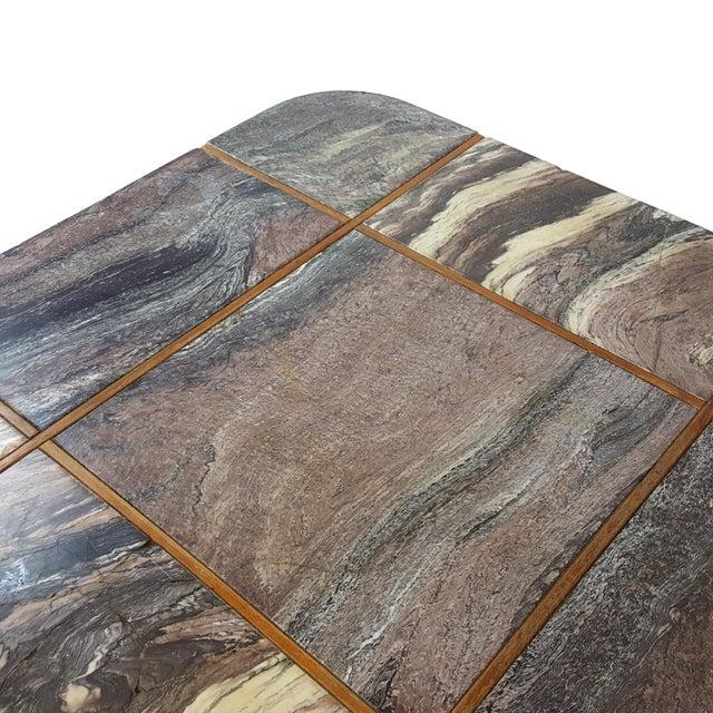 Bendixen Danish Modern Marble Top Coffee Table - Image 7 of 7