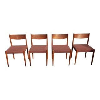 1960s Danish Modern Frem Rojle Side Chairs - Set of 4 For Sale
