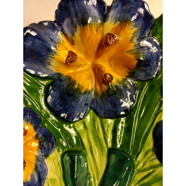 Vintage Italian Hand Painted Iris Bowl - Image 3 of 10