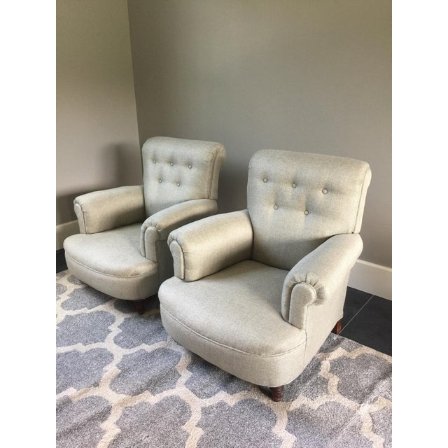 French Club Chairs - a Pair For Sale - Image 12 of 12