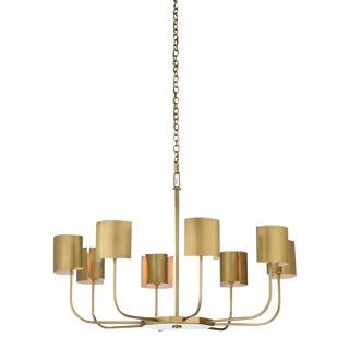Castle Yard Chandelier, Brass For Sale