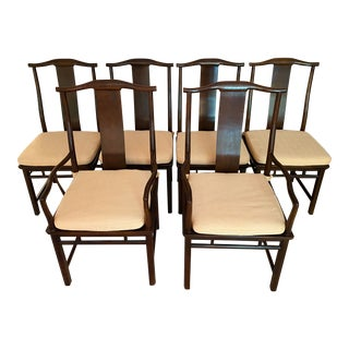 Baker Furniture Far East Collection Dining Chairs - Set of 6 For Sale