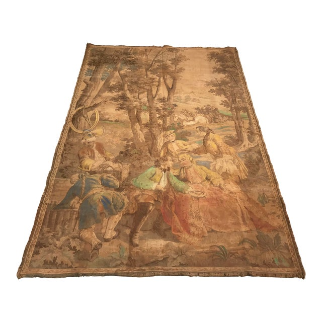 Antique Gobelin Wall Art Tapestry For Sale