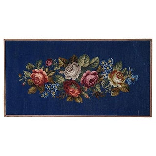 Vintage Needlepoint Textile Art For Sale