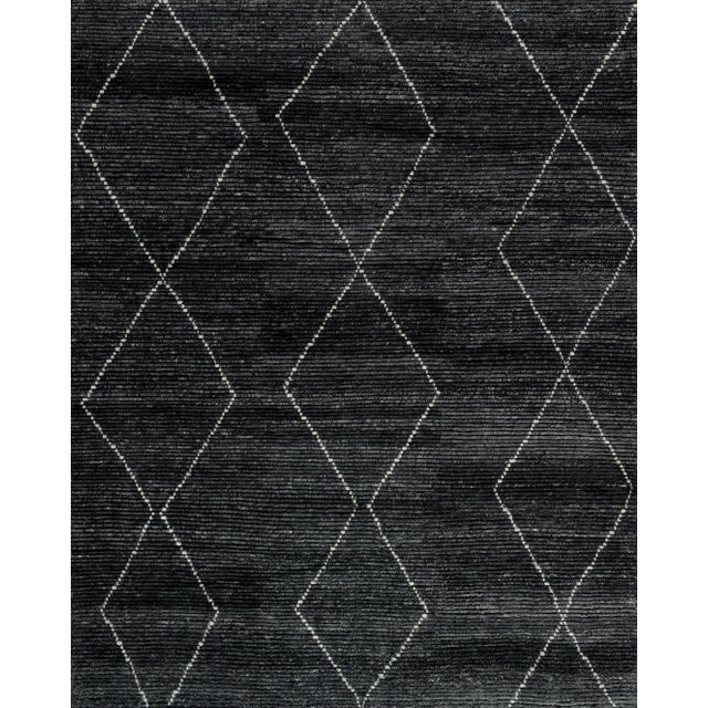 """Not Yet Made - Made To Order Stark Studio Rugs Baha Rug in Asphalt, 8'0"""" x 10'0"""" For Sale - Image 5 of 5"""