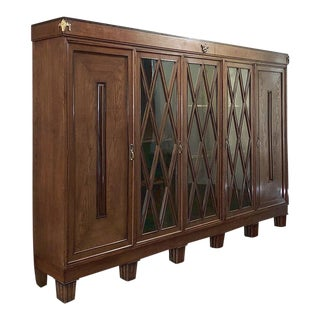 French Art Deco Period 4-Door Bookcase For Sale