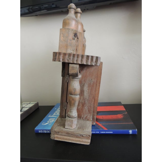 Vintage Wood Indian Hand-Carved Shrine - Image 4 of 5
