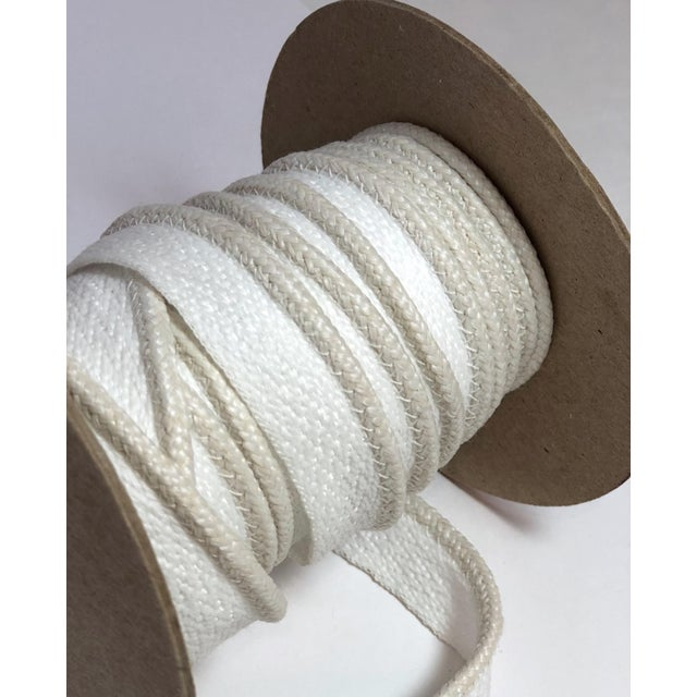 """Braided 1/8"""" Indoor/Outdoor Cord in Ivory-White For Sale - Image 4 of 7"""