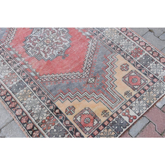 Distressed Turkish Oushak Rug - 3′11″ × 6′1″ - Image 7 of 9