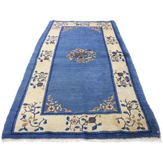 "Early 20th Century Antique Chinese Peking Accent Rug - 3'00"" × 5′9″ Preview"