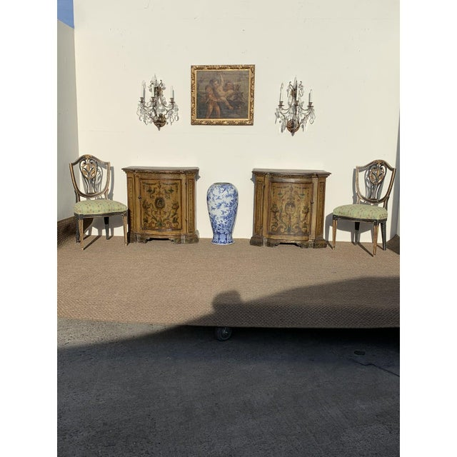 Black Early 19th C. Neoclassical European Shield Back Side Chairs - a Pair For Sale - Image 8 of 11