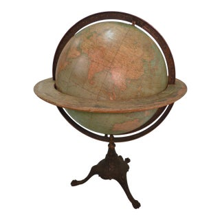 20th Century Traditional Metal World Globe For Sale