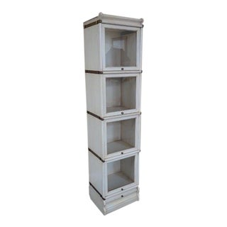 Stacking Barrister Narrow White Stacking Bookcases For Sale
