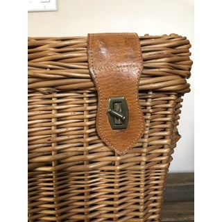 Vintage Woven Willow Wicker Picnic Basket Hamper Preview