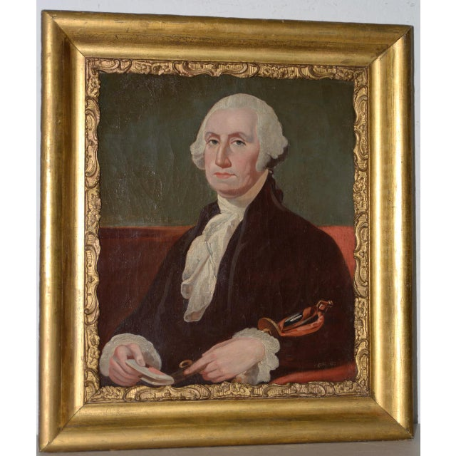 Early 19th Century Portrait of George Washington Oil Painting C.1837 For Sale - Image 11 of 11
