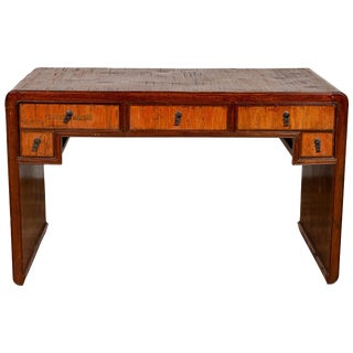 Vintage Handmade Desk Found in Northern Thailand With Five Drawers, Circa 1950 For Sale