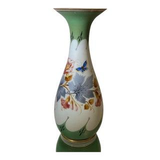 Webb English Opaline Glass Vase For Sale