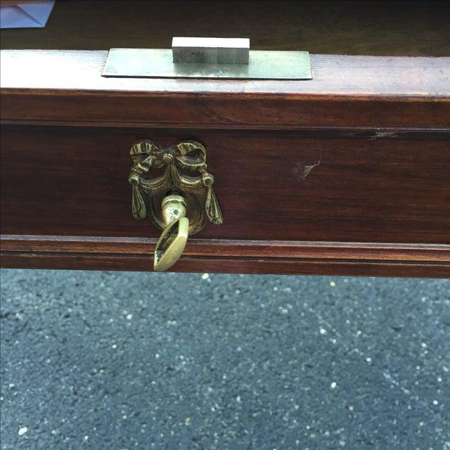 Antique Regency Leather Top Writing Desk - Image 5 of 9