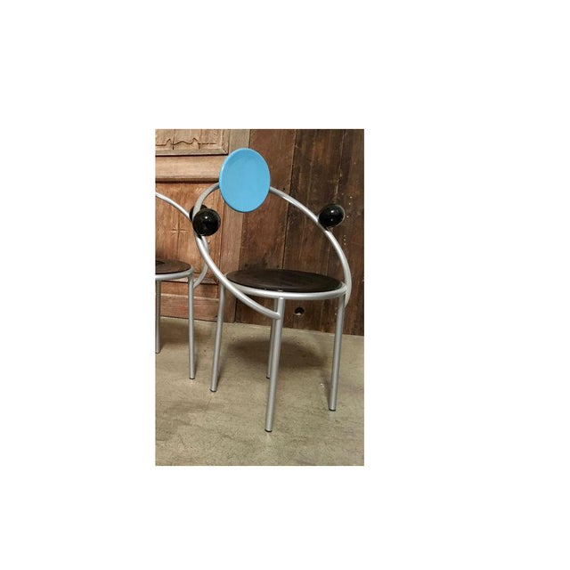 """Metal """"First Chair"""" Michele De Lucchi for Memphis Chair For Sale - Image 7 of 7"""
