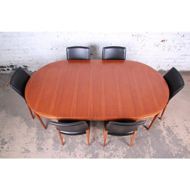 1960s Ib Kofod-Larsen and Torbjorn Afdal Scandinavian Modern Teak Dining Set For Sale - Image 5 of 13