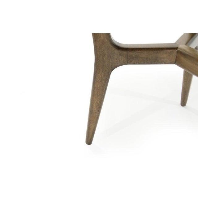 Mid-Century Modern Asymmetrical Walnut Desk For Sale - Image 11 of 13