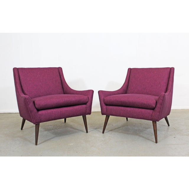 Pair of Mid-Century Modern Paul McCobb Style Lounge Chairs For Sale - Image 12 of 12