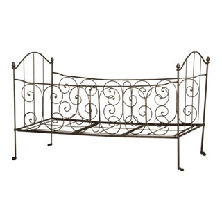 Iron Campaign (Folding) Bed, France C. 1875 For Sale