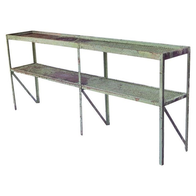 Long Narrow Industrial Mesh Console - Image 5 of 11