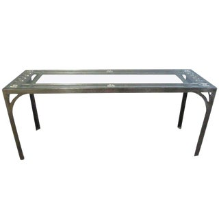 Steel Floral Console Table For Sale