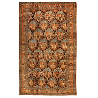 Antique Oversize 19th Century Persian Bidjar Carpet