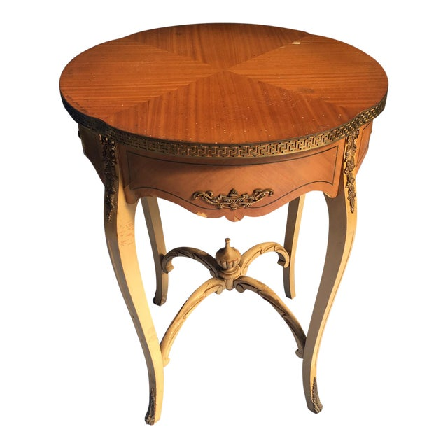 Wooden Carved Side Table For Sale