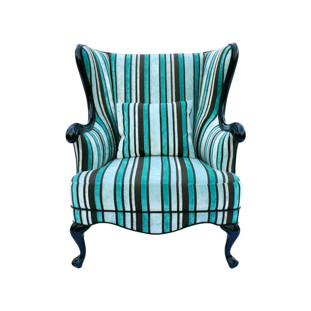 Vintage Round Wing Back Chair - Image 1 of 7