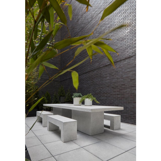 Cast Resin 'Aspen' Bench, White Stone Finish by Zachary A. Design For Sale In Chicago - Image 6 of 10