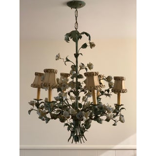 Vintage French Floral Tole Chandelier Preview