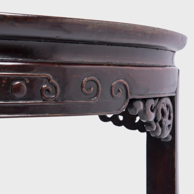Wood 19th Century Chinese Demi-Lune Table For Sale - Image 7 of 8