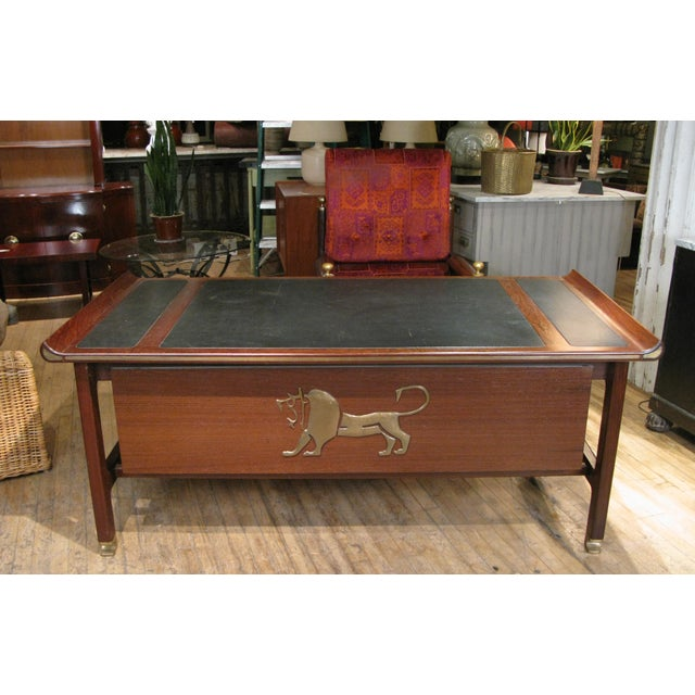 Executive Desk in Wenge & Brass by Kofod Larsen For Sale - Image 11 of 12