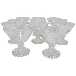 Vintage Cocktail or Champagne Glasses, Set of 12 For Sale