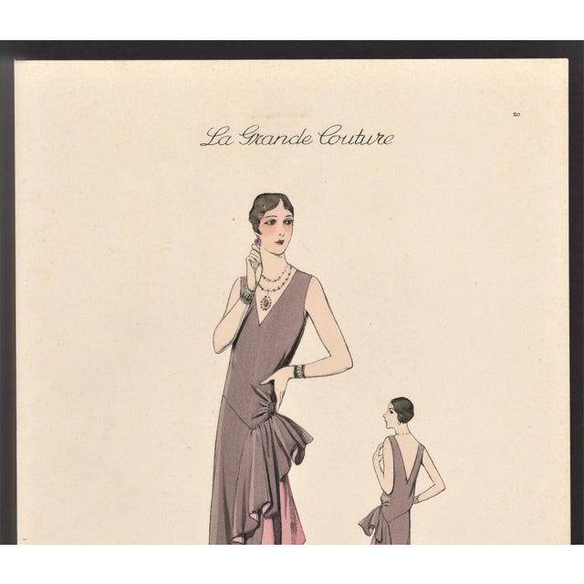 """This is a fabulous Art Deco fashion plate from a collection called """"La Grande Couture"""" published in France in the late..."""