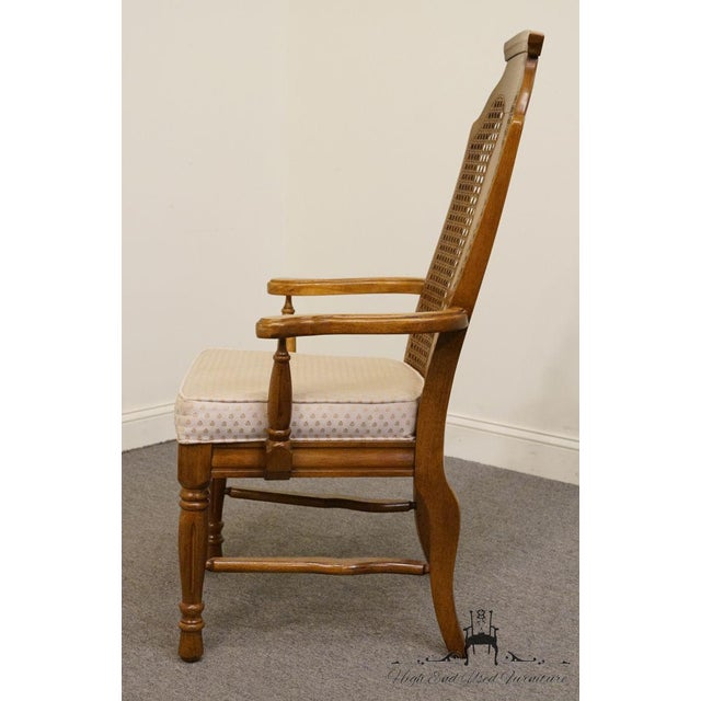 Henry Link Dixie Contemporary Style Cane Back Dining Arm Chairs - a Pair For Sale - Image 9 of 13