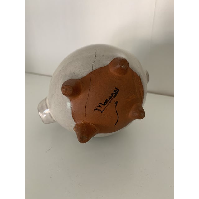 Terracotta Pig Figurine For Sale - Image 4 of 7