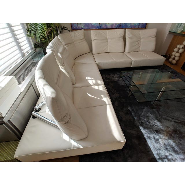 Purchased this De Sede DS-112 by Thomas Althaus white leather 5-piece L-shaped sectional from DDC NYC as the original...