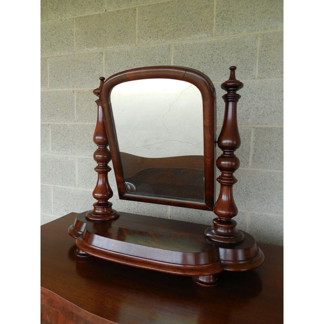 Antique Empire Period Mahogany Dressing Mirror For Sale - Image 13 of 13